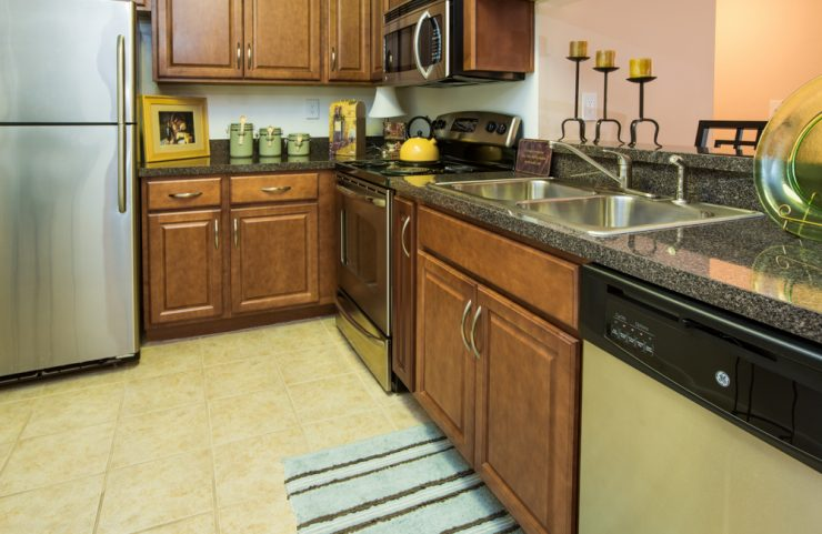 upgraded kitchens with microwave